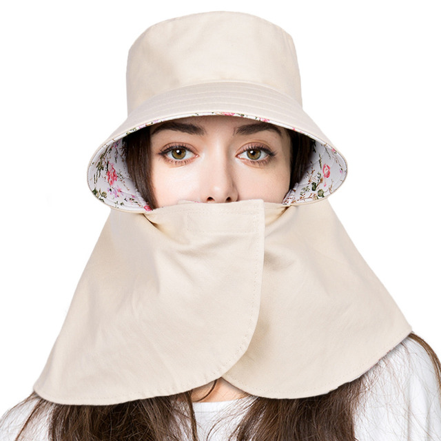 Vbiger Women Sun Hat UV Protection Hat Cap Reversible Super Wide Brim  Bucket Hats Sunhat for 7c7829278412