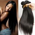 Best Quality 10A Brazilian Virgin Hair Straight Brazilian Hair Weave Bundles 3 Pcs Full Head Alimice Brazilian Hair Bundles