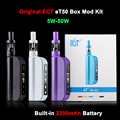 New ECT box mod electronic cigarettes eT 50 Kit 50W E cig 2.5ml mini fog airflow control 2200mah atomizer e cigarette et50 kit