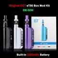 Nueva caja de cigarrillos electrónicos mod eT ECT 50 Kit 50 W E control de flujo de aire 2200 mah cig 2.5 ml mini niebla atomizador cigarrillo electrónico et50 kit