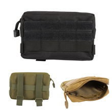 600D Nylon Airsoft Tactical Military Modular MOLLE Small Utility Pouch EDC Bag Waterproof Mini Bagged Open Gear Tools Pouch Case