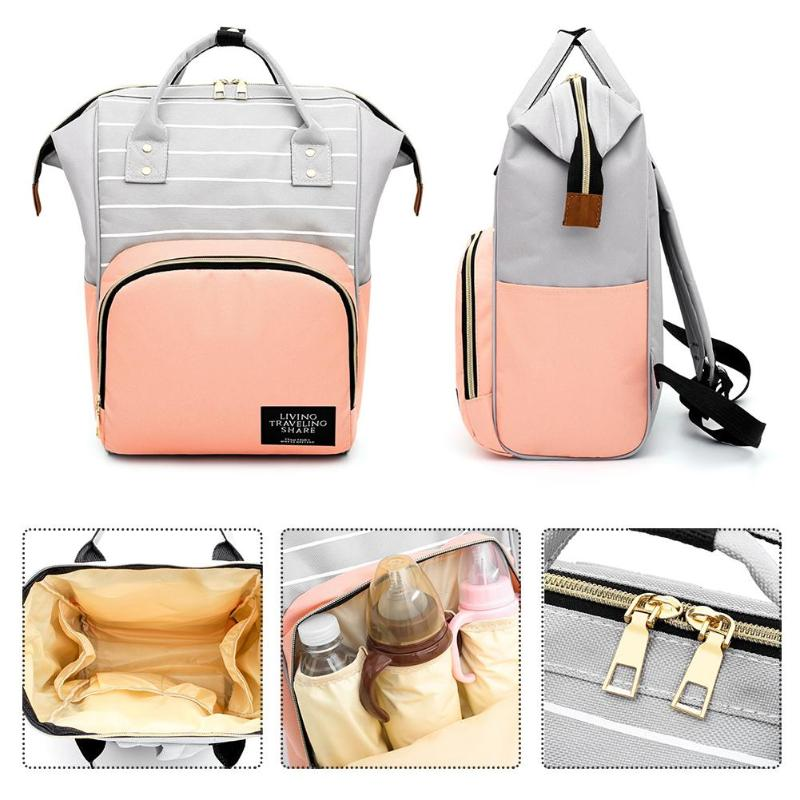 7 Colors Fashion Mummy Maternity Nappy Bag Large Capacity Baby Bag Travel Backpack Desinger Nursing Bag For Baby Care Organizer