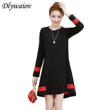 Loose Dress Women Summer 2019 Casual O-neck Dresses Fashion Mini Female Dress Plus Size Long sleeve Spring Femme Red Black Dress цены