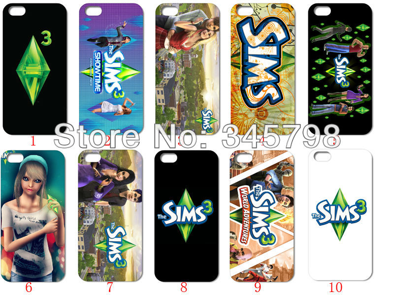 Mini games 10pcs lot 10style the sims 3 white hard case for Case the sims 3 arredate