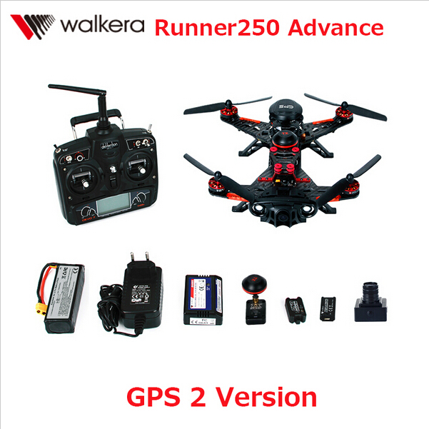 F16181 Walkera Runner 250 Advance with 1080P Camera Racer RC Drone Quadcopter RTF with DEVO 7 OSD Camera GPS 2 Version