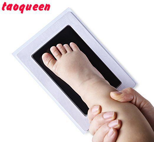 2018 Taoqueen Special Baby Hand Foot Print And Stamp Pad Ink Leave Footprints  Baby Souvenirs