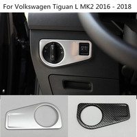 Car Cover Front Headlight Light Switch Trim Frame Lamp Button Panel 1pcs For Volkswagen VW Tiguan