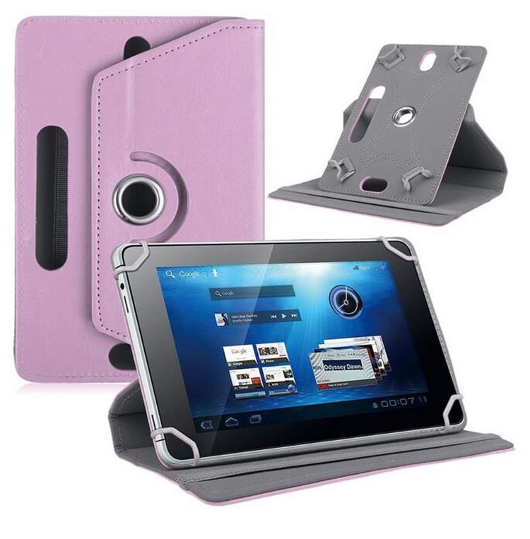 DSstyles 7/8/9/10 pulgadas Universal 360 grados de rotación cuatro ganchos de cuero Tablet funda de protección