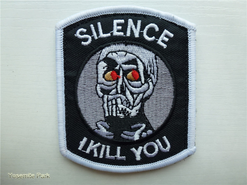 US $3 05  Silence I Kill You patches military hook back Afghan Novelty  insignia tactical morale patches for jacket-in Patches from Home & Garden  on