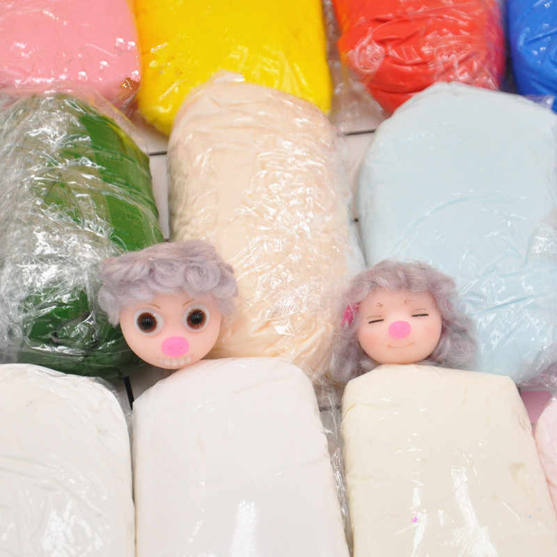 Multi-meat translucent / cold-porcelain baker soil / unbaked soft pottery / crystal resin soil / clay polymeat resin clay 100g