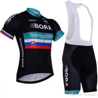 Pro BORA Team Black Short Sleeve Cycling Jersey Maillot Ropa Ciclismo Cycling Clothing Cycling Jersey GEL