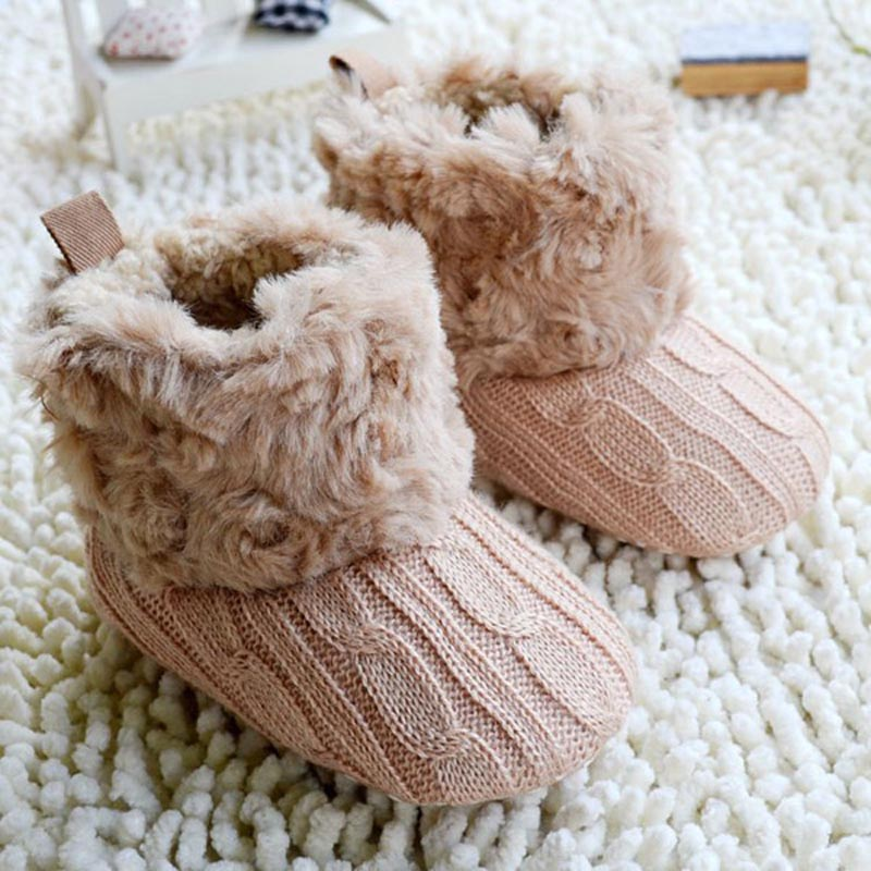 Bébé nourrissons au Crochet tricot polaire bottes enfant en bas âge fille garçon laine neige berceau chaussures hiver chaud chaussons premiers