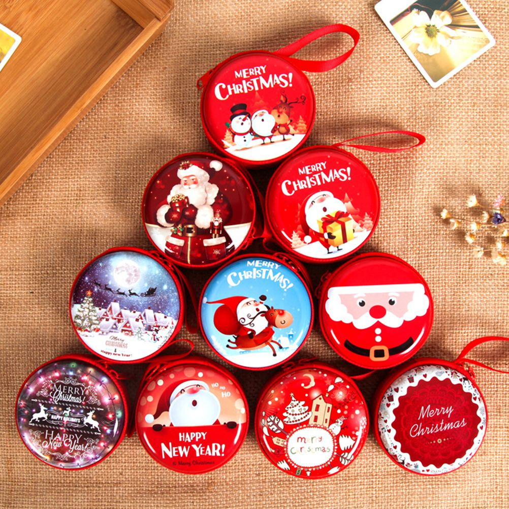 NICEXMAS 5pcs Christmas Tinplate Gift Box Candy Container Storage ...