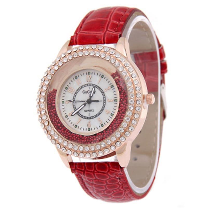 Women Luxury Round Watches Clock Classic Female Crystal Quartz 2018 Watches Lady Dress Wristwatches Reloj Mujer Free Shipping
