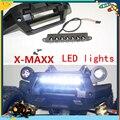 Передний Бампер БЕЛЫЙ СВЕТОДИОДНЫЕ Лампы Система Освещения Свет Бар для Traxxas X MAXX X-Maxx 77076-4