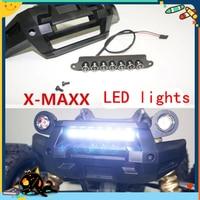 Front Bumper WHITE LED Lamp Lighting System Light Bar For Traxxas X MAXX X Maxx 77076
