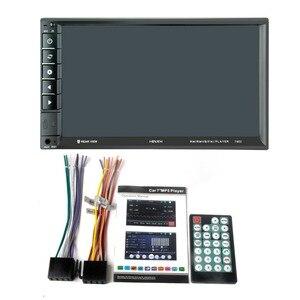 Image 5 - 7902 7 дюймовый сенсорный экран многофункциональный плеер автомобиля mp5 плееры, BT hands free, FM радио MP3/MP4 плееры USB/AUX