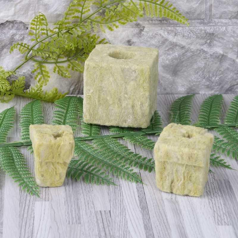 RROVE Rockwool Cubes Hydroponic Grow Media Culture sans Sol Plantation Compress Base