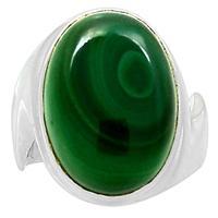 Genuine MALACHITE Ring 925 Sterling Silver Jewelry,USA Size :6, MHBAR3775