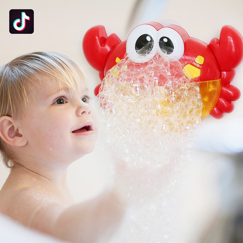 Bathing Spouts Bubble Crabs Foaming Machine Bathroom Oyuncak For Children Water Swimming Bath Toys Baby Shower Boy