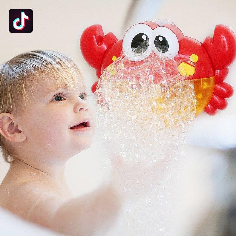 Bathing Spouts Bubble Crabs Foaming Machine Bathroom Oyuncak For Children Water Swimming Bath Toys Baby Shower Boy