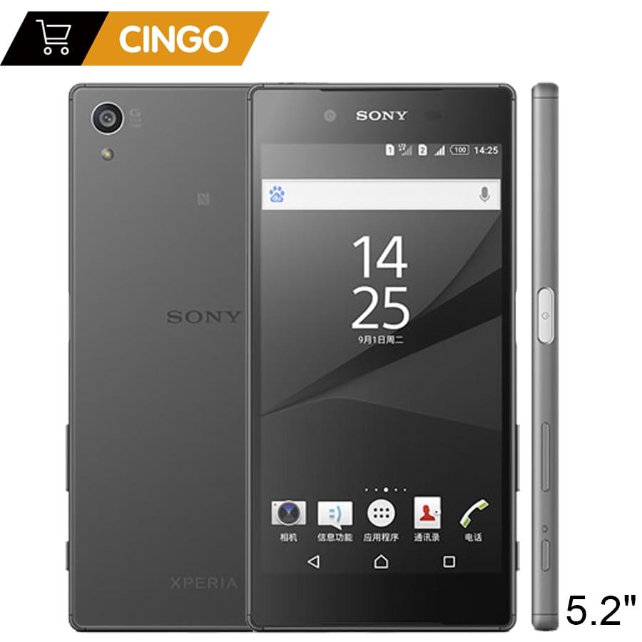 Sony Xperia Z5 E6653 Original Unlocked Mobile Phone RAM 3GB ROM 32GB 5.2 Inch GSM WCDMA 4G LTE Android Octa Core 23MP Camera