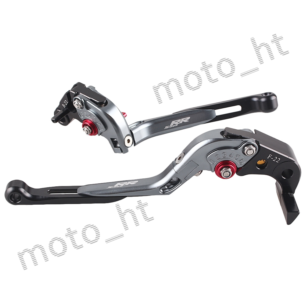 ФОТО CNC Aluminum Brake Cutch Levers Set For BMW S1000RR 2010 2011 2012 2013 2014 Adjustable, RED+GREY+BLACK