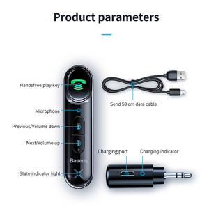 Image 5 - Baseus Car AUX Bluetooth 5.0 Adapter 3.5mm Jack Wireless Audio Receiver Handsfree Bluetooth Car Kit For Phone Auto Transmitter