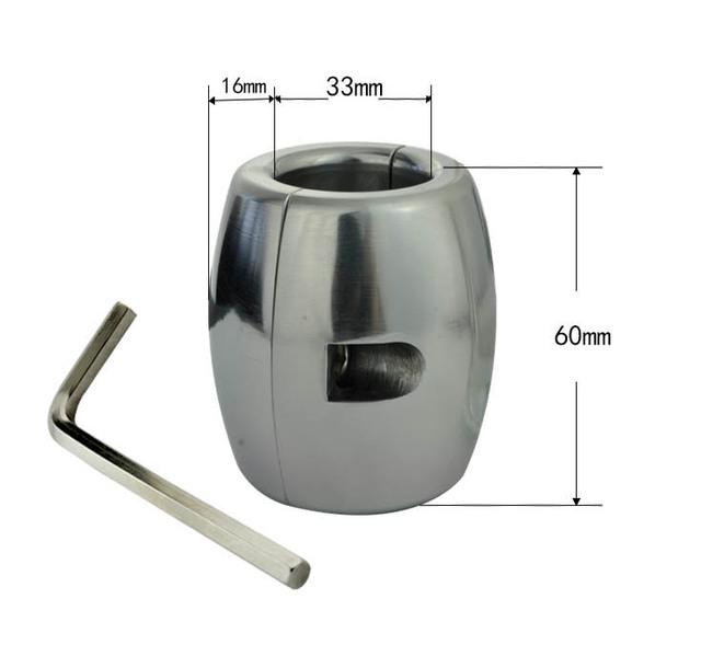 Aço inoxidável de Metal over-tipo grande anel de pénis formação rolamento de peso pesado pingente bola maca escroto escravidão anéis penianos