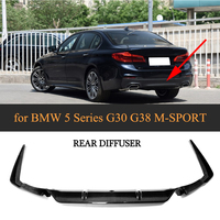 5 Series Carbon Fiber Rear Bumper Lip Spoiler Diffuser for BMW G30 M Sport Sedan 4 Door 2017 2018 2019 540i Non Standard