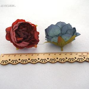 Image 5 - 2 adet DIY Retro ipek yapay çiçekler avrupa şakayık tomurcuk çiçek başları düğün çelenk D25