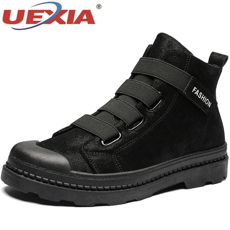 ef6db89633c8d Black Hommes Pointu Automne Cheville Casual Uexia Chaussures D affaires  Mode Bottes Britannique Hiver Top High qCxwT61O