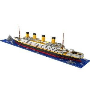 Image 3 - タイタニック船モデルビルディングブロックレンガのおもちゃ 1860 個ミニタイタン 3D キット Diy ボート教育コレクション子供のための男の子