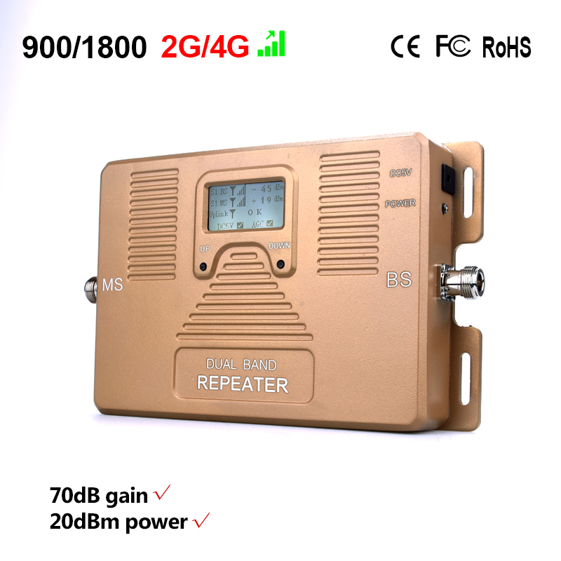 Image 2 - Full Intelligent Dual Band 900/1800MHz Mobile Signal Booster Cell Phone Signal Repeater Signal Amplifier for 2G 4G users-in Signal Boosters from Cellphones & Telecommunications
