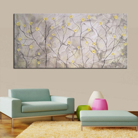 High Quality Handmade Home Goods Decor Picture Of Oil Paintings On Canvas Flowers 24x48inch