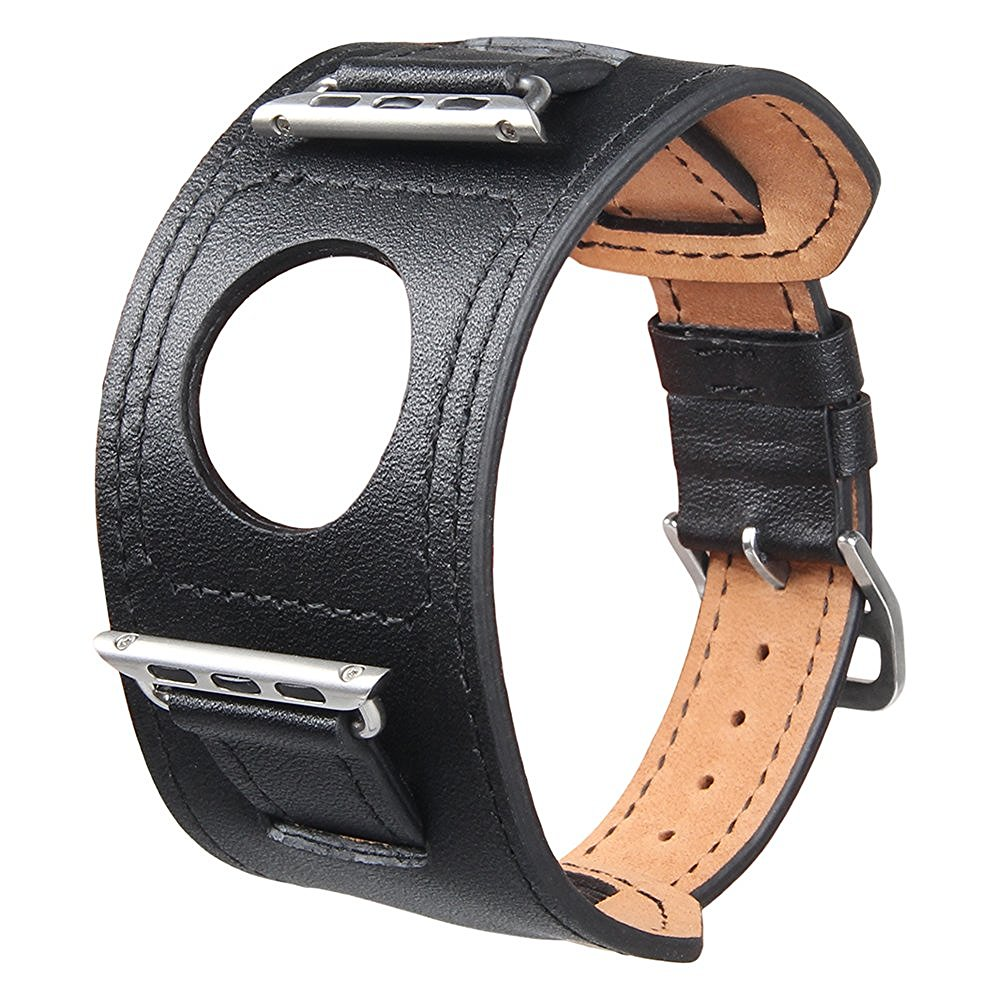 где купить  V-MORO Genuine Leather Watchband Cuff Bracelet Genuine Leather Band strap For Apple Watch 38mm 42mm  дешево