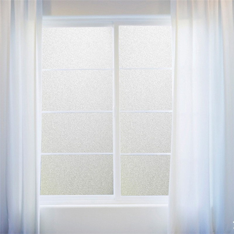 100/200cm*45cm Frosted Window Film No Glue Self Adhesive Vinyl Static Cling Privacy Glass Door Sticker Bathroom For Home Decor