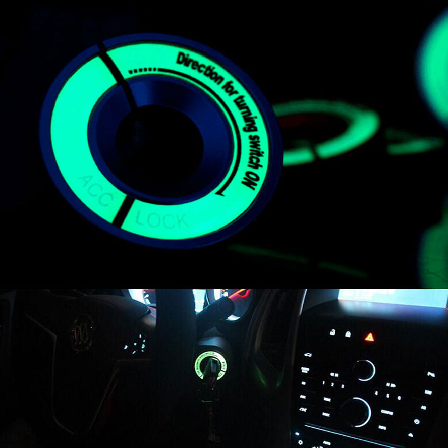 Car Automotive Night Lights Luminous Glow Ignition Key Ring Switch Metal Decoration Key Hole Lock Ring Trim Cover Fit For Golf вилка ring automotive rba10