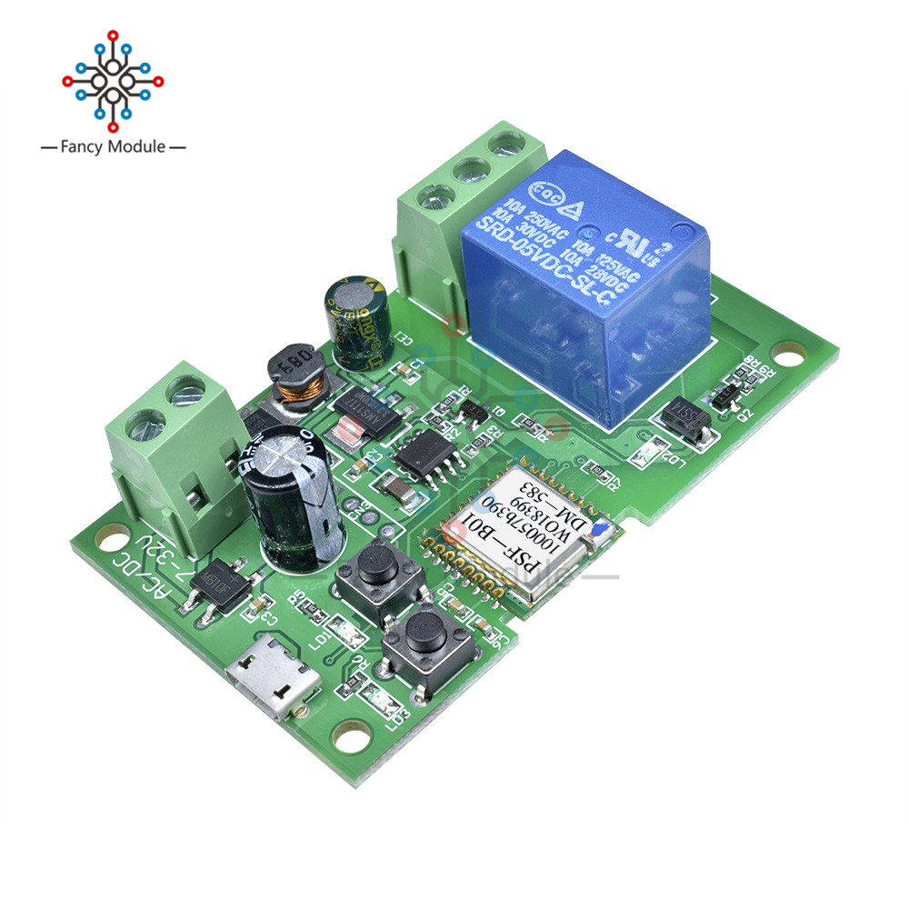 DC 5V-12V Jog self-lock Smart WiFi Wireless Switch Relay Module by APP ControlDC 5V-12V Jog self-lock Smart WiFi Wireless Switch Relay Module by APP Control