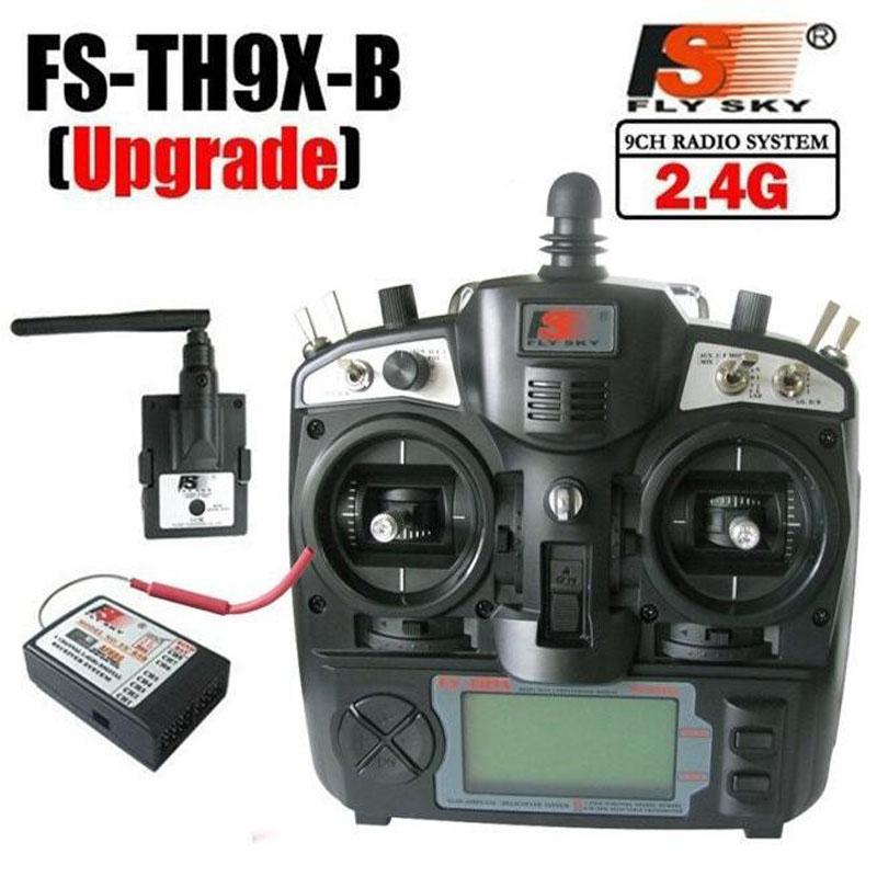 FlySky 2.4G 9CH Radio Set System transmitter FS TX TH9X FS-TH9X & RX FS-R9B receiver for rc helicopter quadcopter controller flysky fs gt2b 2ch transmitter fs gr3e receiver tx rc car boat controller radio 2 4ghz
