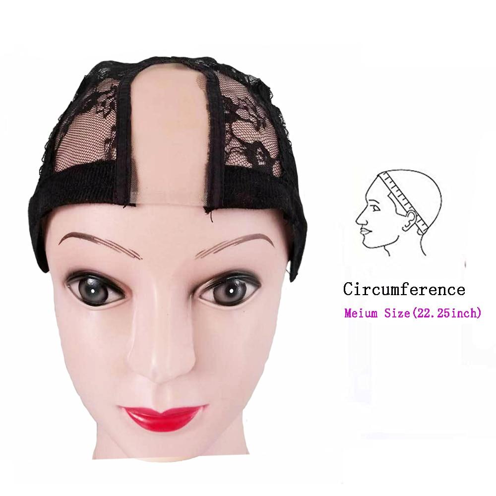 Lightweight Stretch U Shape Lace Wig Cap Adjustable Wig Cap for Hair Weaving 20pcs