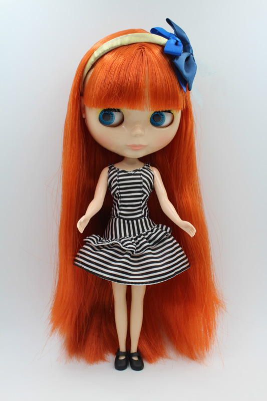 Free Shipping big discount RBL-275DIY Nude Blyth doll birthday gift for girl 4colour big eyes dolls with beautiful Hair cute toy big beautiful eyes косметический набор косметический набор big beautiful eyes