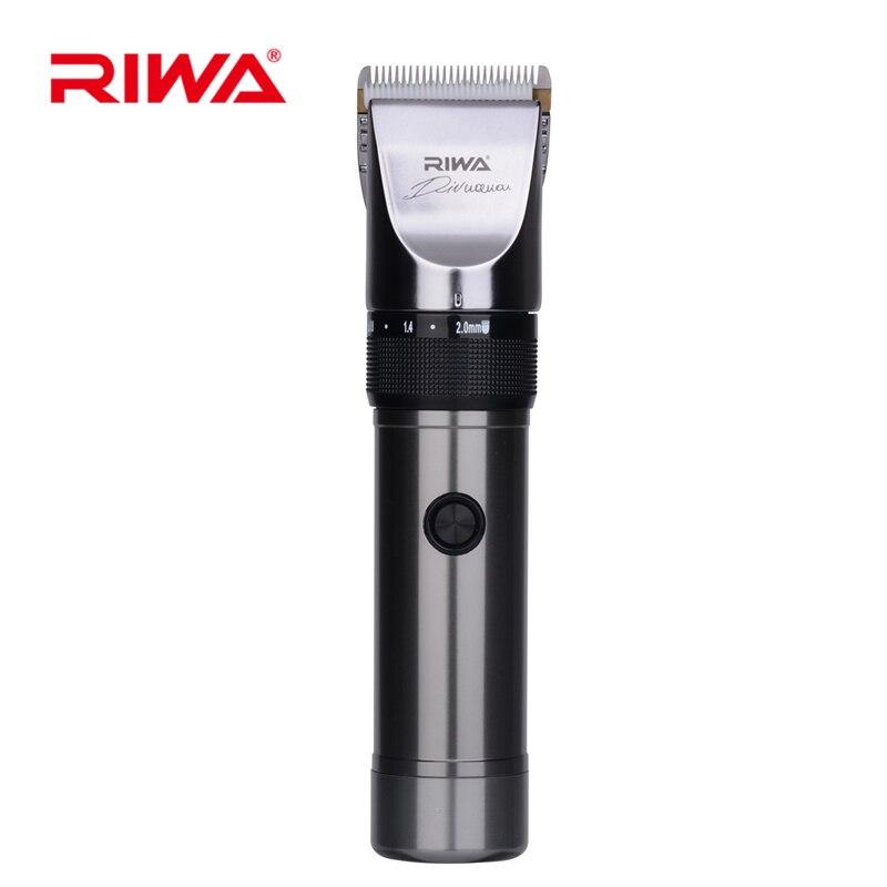 Riwa alta calidad pelo de cerámica de titanio hoja profesional peluquería máquina de afeitar barba para adultos niños