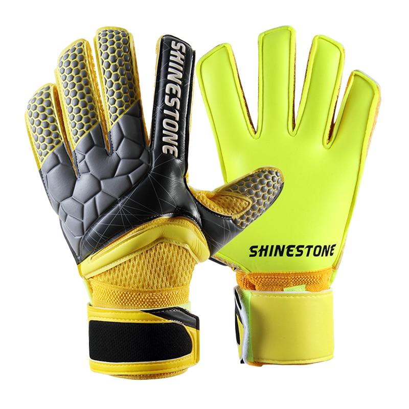 Men Kids Size Latex Professional Soccer Goalkeeper Gloves Strong Finger Protection Football Match Gloves 10
