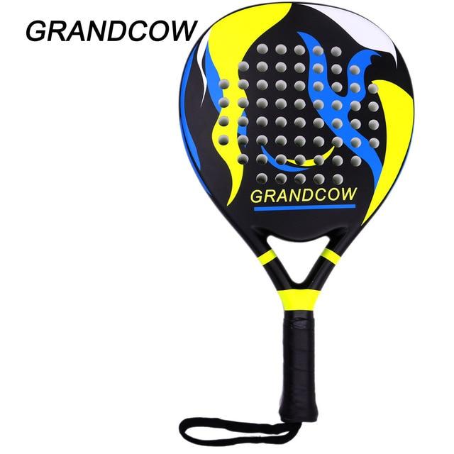 GRANDCOW Tennis Padel Paddle Pro Carbon Fiber Power Pro-Lite EVA Foam Pop Beach Paddleball  Racquet