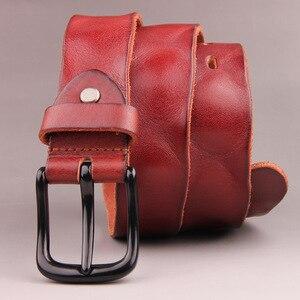 Image 4 - ZAYG אופנה גברים חגורת עור אמיתי באיכות גבוהה יוקרה מעצב חגורות גברים חדש רצועת זכר man קאובוי שחור חגורת גברים