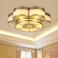 Chinese style E27 D52CM / D42CM copper ceiling light study simple bedroom lamp dining room flower shaped ceiling lamps ZA921635