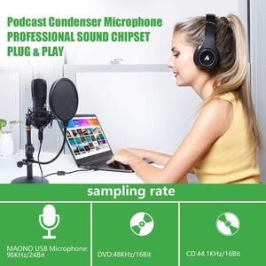 Image 4 - MAONO micrófono condensador profesional USB para transmisión de Podcast, para estudio, YouTube, grabación de videojuegos