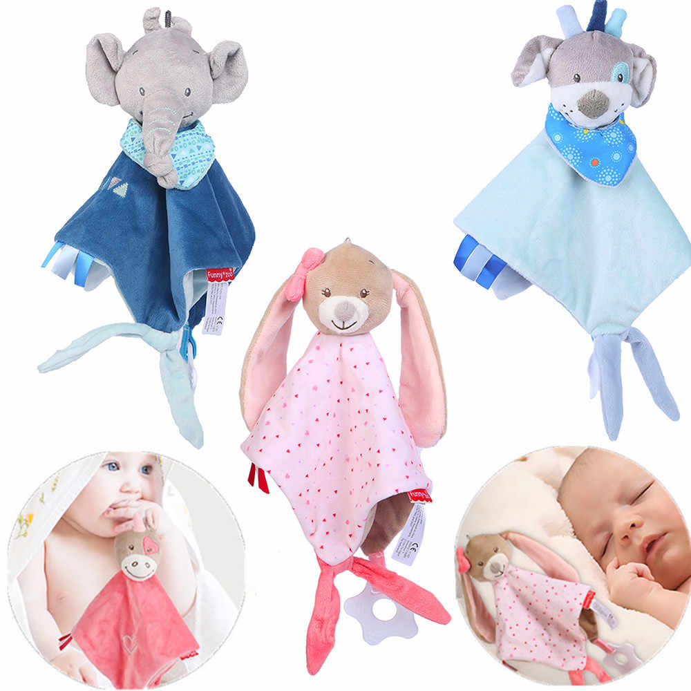 Baby Newborn Teddy Newborn Soft Baby Teddy Bear Puppet Toy Gift Snuggle Baby Comforter Elephant Pillow Plush Blanket Dropshipping