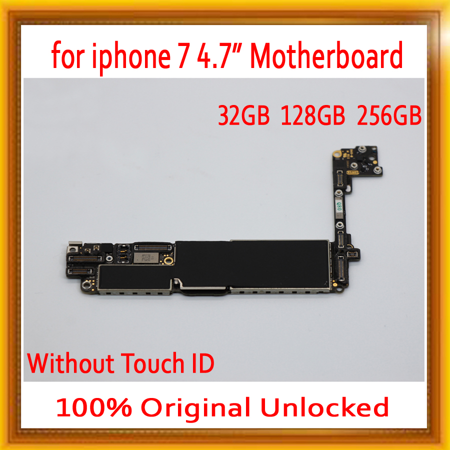 without Touch ID for iPhone 7 Motherboard + Chips,100% Original for iphone 7 Logic board with Full unlocked,32GB / 128GB / 256GBwithout Touch ID for iPhone 7 Motherboard + Chips,100% Original for iphone 7 Logic board with Full unlocked,32GB / 128GB / 256GB